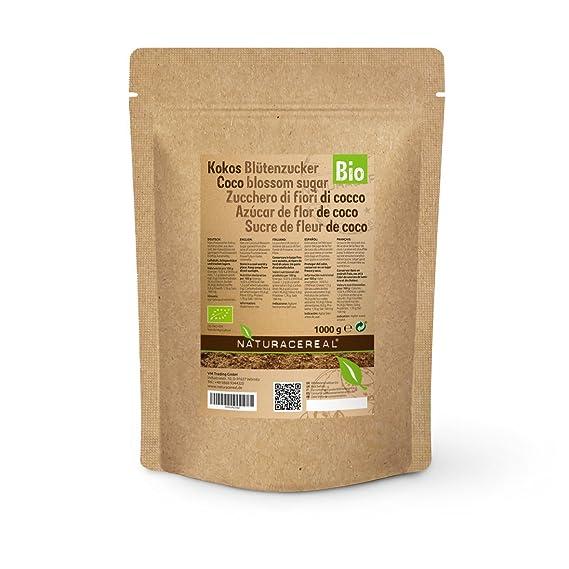 NATURACEREAL - Azúcar De Coco Orgánico 1kg | Rico en potasio, magnesio, zinc y