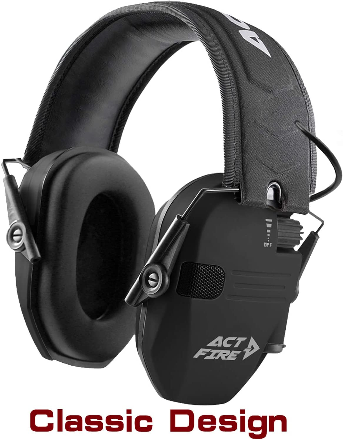 ACT FIRE Shooting Earmuffs Ear Protection for Gun Range Ultimate Combat Classic Design