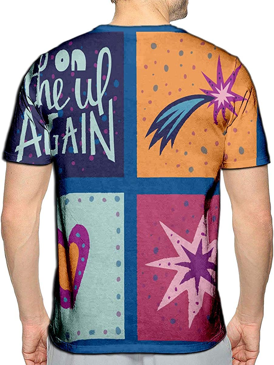 YILINGER T-Shirt 3D Printed Abstract Cartoon Summer Time Beach Template Logo Casual Tees
