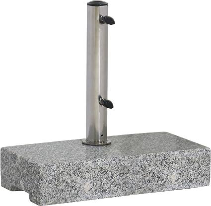 Unbekannt Portaombrelli 20/kg supporto per ombrellone ombrello piede supporto Antracite H110