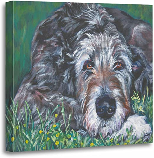 Irish Wolfhound Dog In A Toilet Art Print Home Decor Wall Art Poster