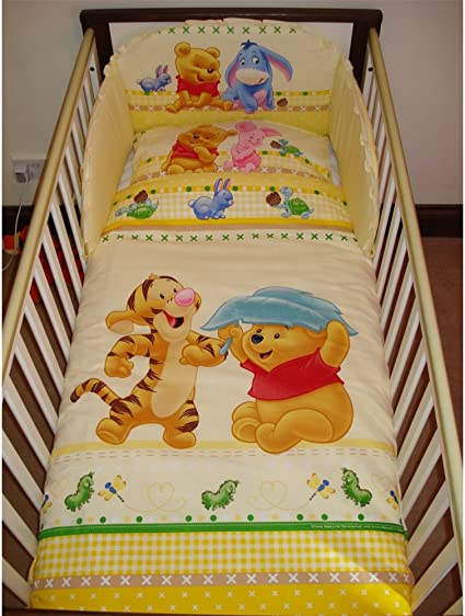Pillowcase /& Duvet cover Disney Tigger and Winnie Beige Bedding Set for Cotbed