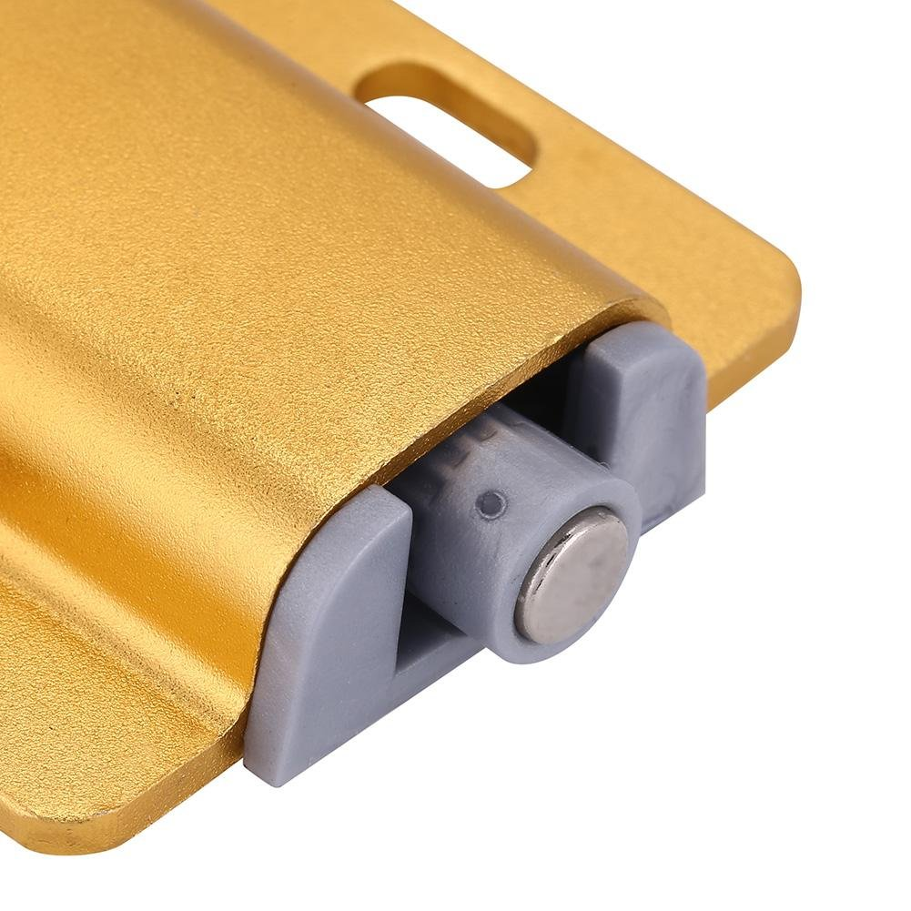 Yosooo Cabinet Door Drawer Damper Buffer Push To Open System Latch with Magnetic Tip 5 Pcs(Gold) by Yosooo (Image #3)