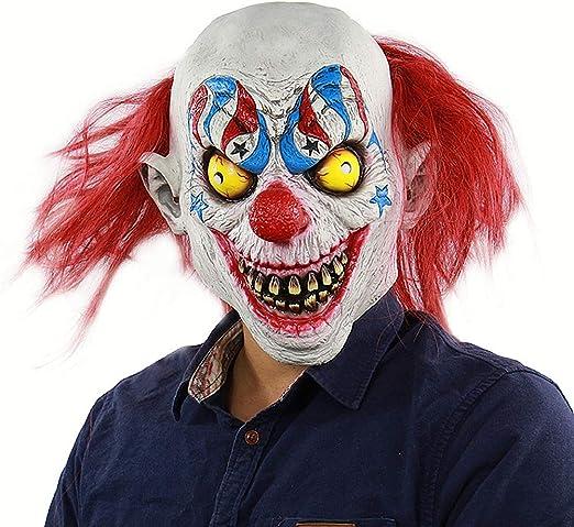 HOUADDY Máscara de Joker de Halloween Máscara de látex de Miedo ...