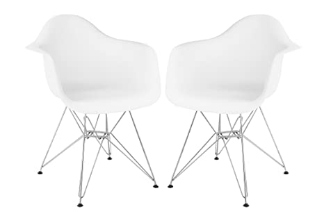 Amazon.com: Stram Mid Century moderna silla de brazo, color ...