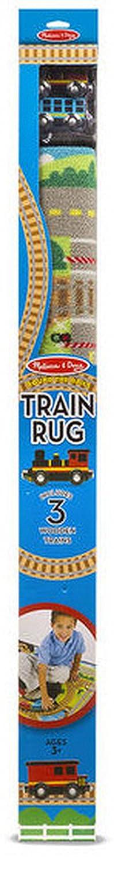Woodega Melissa & Doug- Spielteppich mit mit mit Eisenbahn- Motiv Zugstrecke Bahnhof Natur, 100x91cm, Mehrfarbig 8e99c0