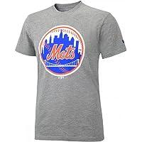 New Era Ne96464Fa16 Mlb Roundall Tee Neymet - T-shirt-Linie New York Mets für Herren, Farbe Grau, Größe