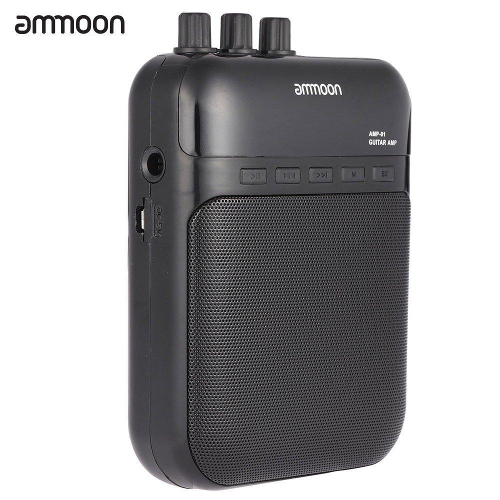 ammoon AMP -01 5W Gitarrenverstä rker -Recorder-Lautsprecher TF-Karten-Slot Compact tragbare Multifunktions 5K-006