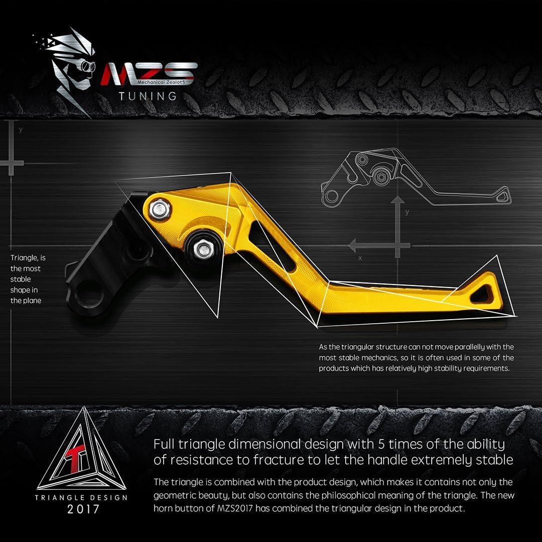 MZS Short Levers Brake Clutch CNC for Suzuki TL1000R SV1000 SV1000S BANDIT 650 1200 1250 GSF650 GSF650S GSF1200 GSF1250 GSF1250S GSX1250 DL1000 V-STROM GSX1400 GSX650F KATANA HAYABUSA GSXR1300 Black