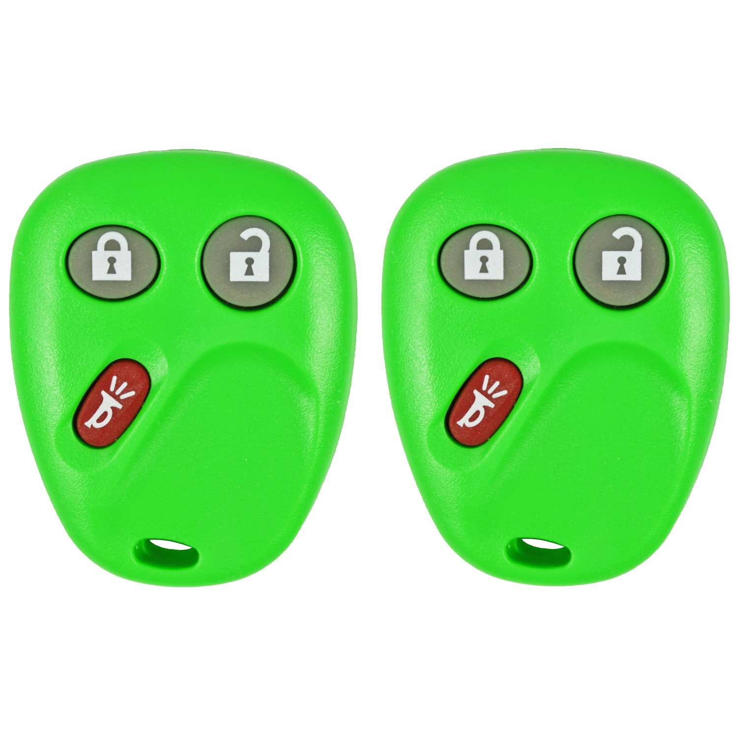 QualityKeylessPlus Remote Replacement 3 Button Keyless Entry FCC ID LHJ011 FREE KEYTAG 2 Green