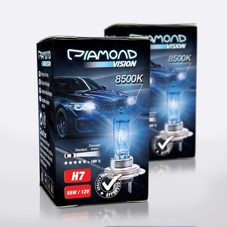 2x H7 12v 55w Xenon Look Effekt Halogen Lampen Birnen Licht Optik Von Diamond Vision Super White 8500k Longlife Nightbreaker E Prüfzeichen 100 Passgenauigkeit Abblendlicht Fernlicht Px26d Auto