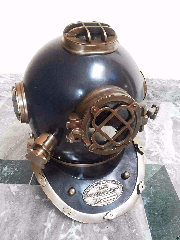 brass gift store Vintage Diving Helmet Antique Divers Maritime U.S Navy Mark u