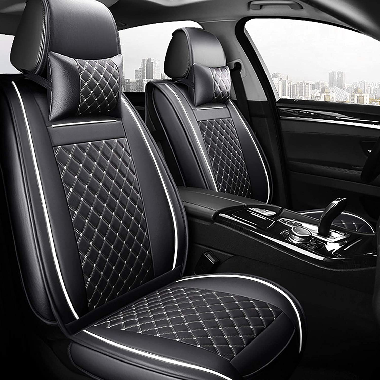 Freesoo Car Seat Cover Cushions PU Leather