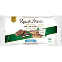 Russell Stover Sugar-Free 4-Flavor Mix, 10 Ounce Laydown Bag, Variety Pack: Mint Patties, Peanut Butter Cups, Pecan Delight, Toffee Squares, Chocolate Sweetened with Stevia