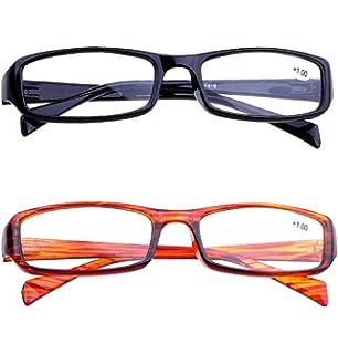 VEVISTARS Lesebrille Damen Herren Leicht Vollrandbrillen Flexibel Arbeitsplatzbrille Rectankig Gläser Schwarz Rot Braun (2.5x, 3Stück Set Lesebrillen(Schwarz+Rot+Braun))