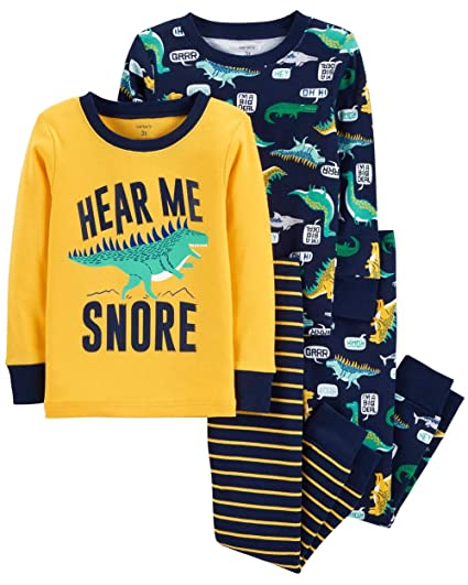 99d5a8e83ce1 Carter s Toddler Boys 4 Pc Pajama PJs Sleep Play Sleep Snug fit ...