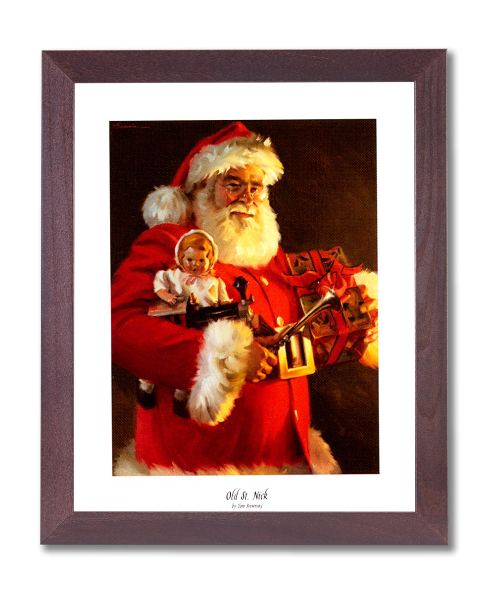 Amazon old st nick santa clause christmas picture framed art amazon old st nick santa clause christmas picture framed art print 1 santa portrait posters prints jeuxipadfo Choice Image
