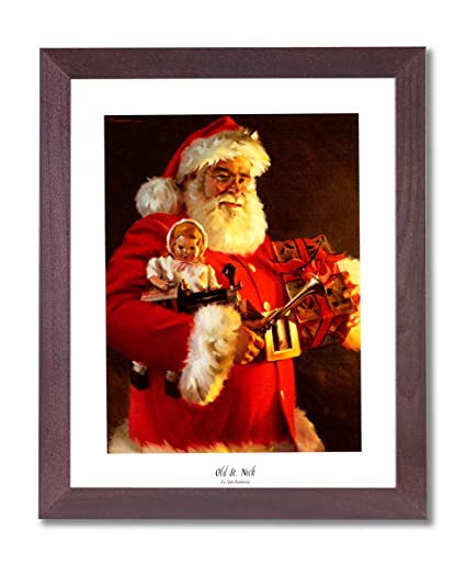 old st nick santa clause christmas picture framed art print 1