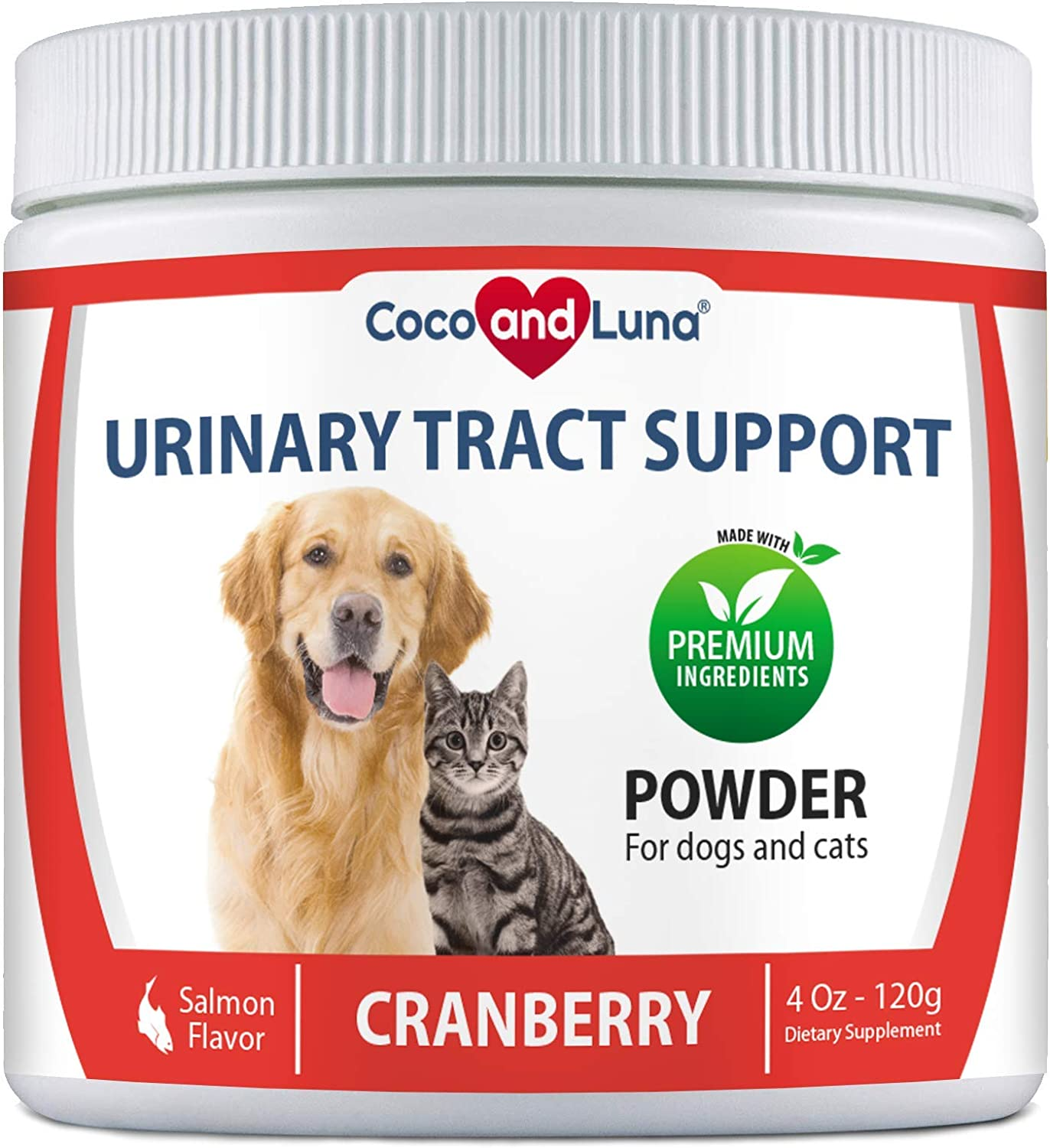 Cranberry for Dogs and Cats - Urinary Tract Support, Prevents UTI, Bladder Infections, Bladder Stones and Dog Incontinence - 4 Oz Powder (120g)