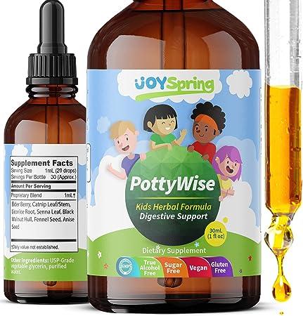 PottyWise Liquid Stool Softener for Kids - Stool Softener and LiquidLaxative for Kids - Gentle Constipation Relief for Kids, Fiber for Kids, Kids Stool Softener
