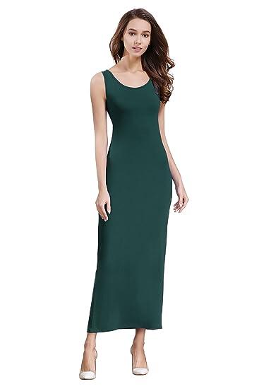 5861fa68fa0ca HIKA Women's Casual Sleeveless Tank Top Long Maxi Dress