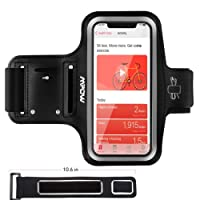 """Mpow Running Armband for iPhone X/ 8/ 7/ 6S/ 6 (Phones up to 5.1""""), with Extension Strap, Card Pocket, Key Holder & Earphone Holder, Safety Design for Exercise, Running, Cycling"""