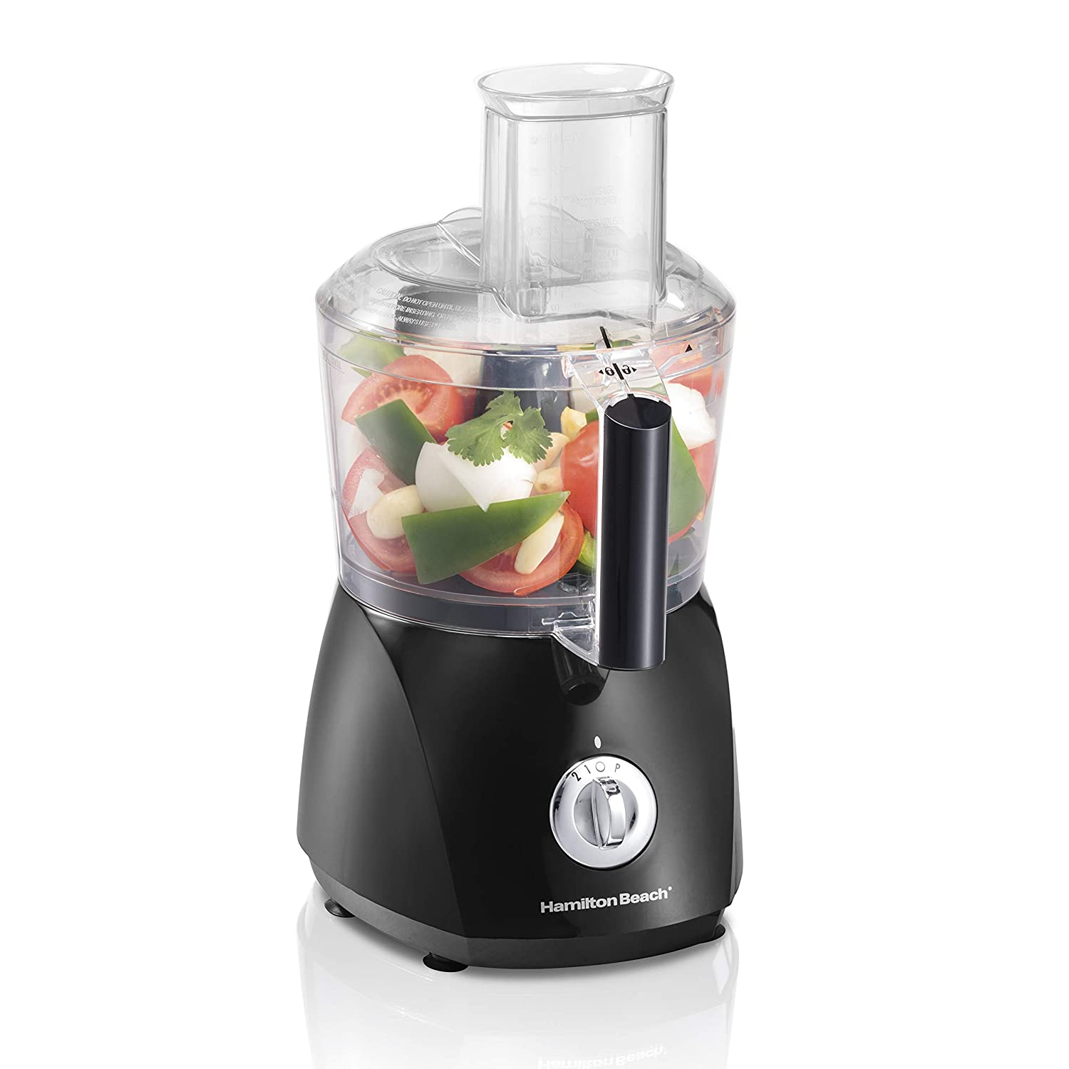 Hamilton Beach ChefPrep 10-Cup Food Processor Vegetable Chopper with 6 Functions to Chop, Puree, Shred, Slice and Crinkle Cut, Black 70670