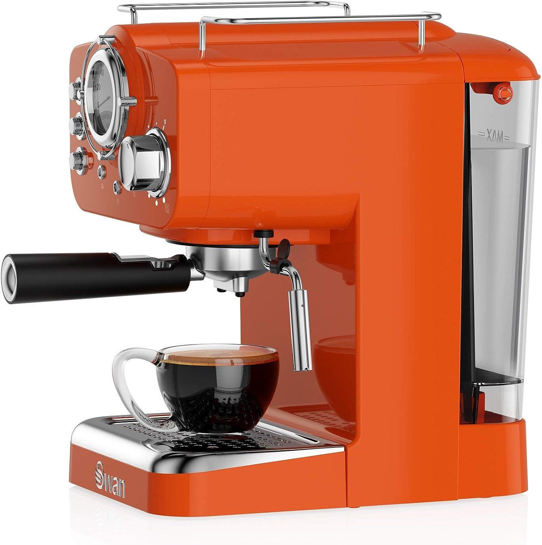 Swan cafetera Espresso SK22110ON, retro, color naranja.: Amazon.es: Hogar
