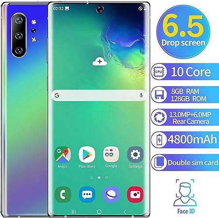 XGLL Teléfono Móvil 6.5 Pulgadas FHD 10 Core 8GB RAM + 128GB ROM Android 9.1 4800Mah Batería Dual SIM Moviles Libres Indestructibles Smartphone,Púrpura: Amazon.es: Hogar