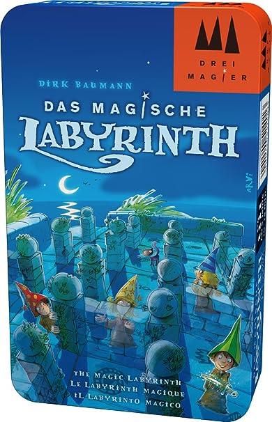 Hans im Glück Schmidt Spiele - Juego Tres Magos 51401. El Laberinto mágico en Lata de Metal: Amazon.es: Juguetes y juegos