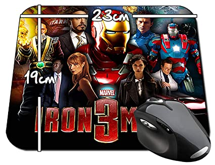 Iron Man 3 Tony Stark Robert Downey Jr B Alfombrilla Mousepad PC