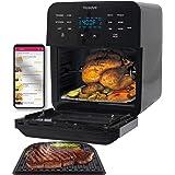 NuWave Brio 15.5-Quart Large Capacity Air Fryer Oven + Grill; Probe; 2 Stainless Steel Racks; Drip Tray; Rotisserie Kit; 100