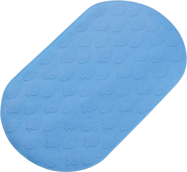 bisoo - BPA Free - Alfombra Bañera Bebé Antideslizante 25x42 cm - Baño Bebe Recien Nacido y Bañera Pequeña - Alfombrilla con Tratamiento Antibacteriano - Silicona - Ideal 0-12 Meses