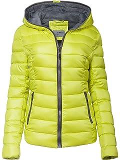 New Damen Winter Jacke STEPP DAUNEN Optik GESTRICKT Kapuze