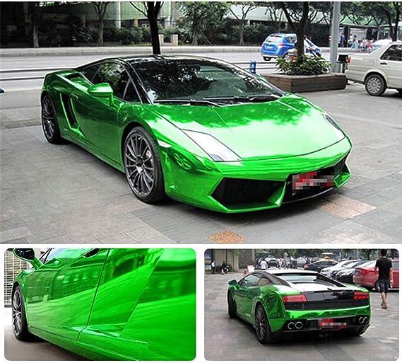 hoho coche Wrap Vinilo verde cromo ajustable hoja película vehículo cuerpo 60