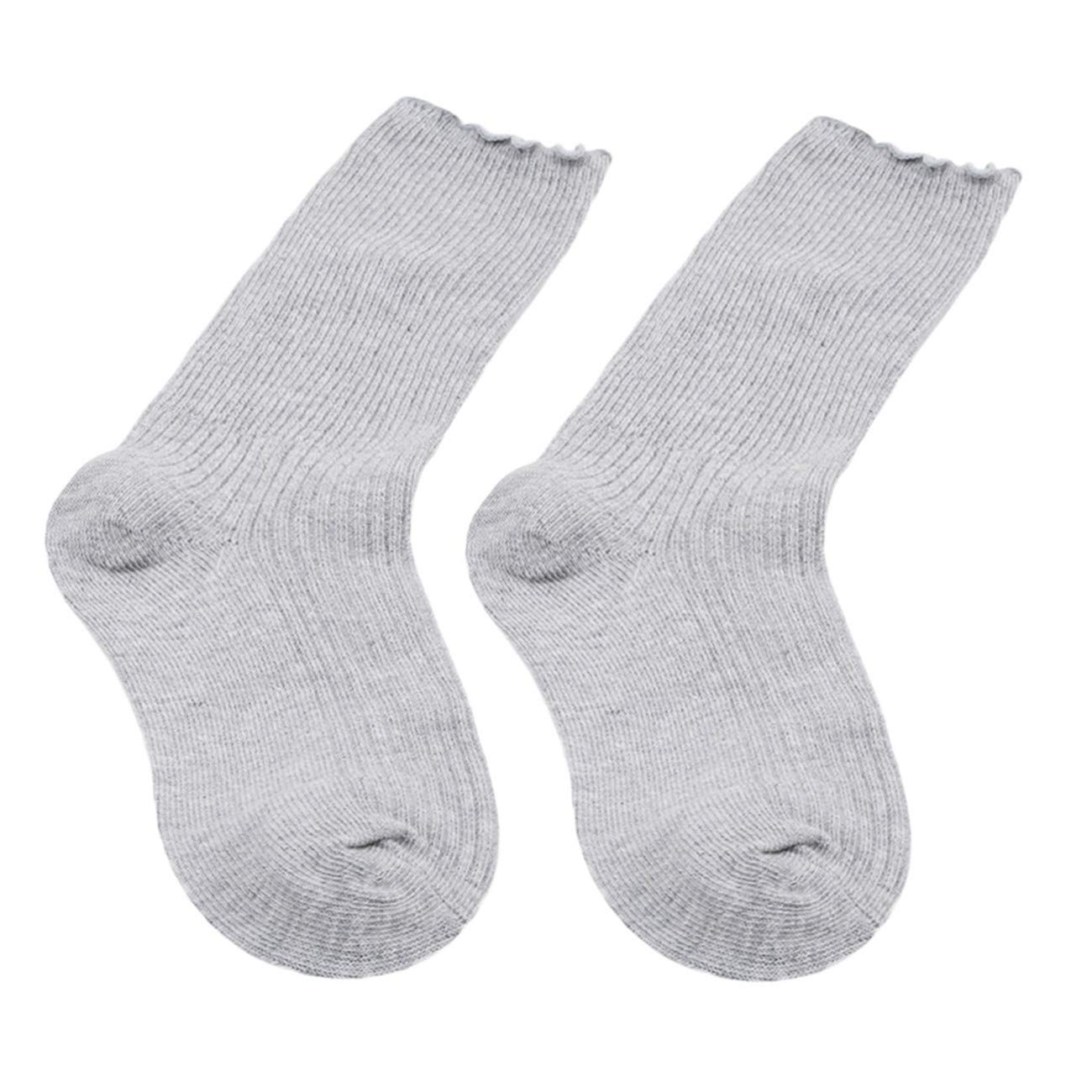 Bigsweety 1pc Children Socks Kid Girls Cute Cotton Soft Crew Ankle Socks (Gray) TangRen