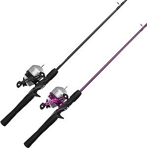 Zebco 33 Spincast Reel and 2-Piece Fishing Rod Combo, 5.5-Foot Durable Fiberglass Rod with Split Cork/EVA Handle, Quickset Anti-Reverse Fishing Reel with Bite Alert
