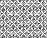 J.P. London MD4159PS Peel and Stick Sugar Vintage - Retro Repeating Black and White Damask Removable Wall Mural, 9-Feet by 10.5-Feet