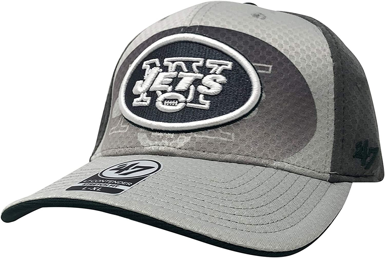 47 York Jets Contender Stretch Fit Fitted Baseball Hat Low Profile Football Cap