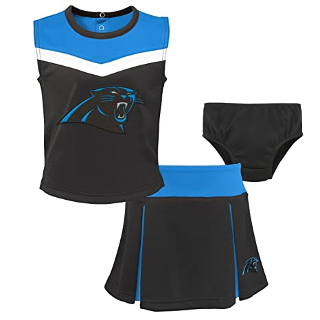 Image Unavailable. Image not available for. Color  Outerstuff Carolina  Panthers NFL Toddler Girls Spirit Cheer Cheerleader 2 Piece Set 5b09e152a