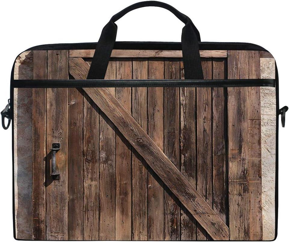 LOSNINA 15-15.6 Inch Bolsa de Ordenador,Puerta corredera Vintage,Nuevo Patrón de impresión portátil Hombro Bolsa maletín portátil de Ordenador portátil Caso: Amazon.es: Electrónica