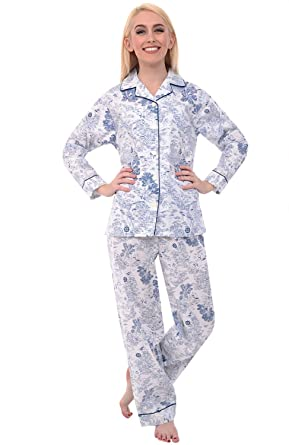 Del Rossa Women's Cotton Pajamas, Long Woven Pj Set at Amazon ...