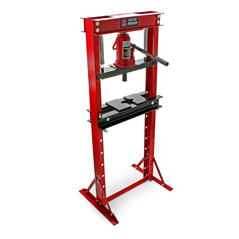 Prensa hidráulica Prensa taller Fuerza presión 12T Estampar Doblar Prensar Piezas Industria Mecánica: Amazon.es: Bricolaje y herramientas
