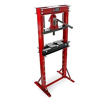 12T Prensa hidráulica Prensa taller Fuerza presión 12000kg Estampar Doblar Prensar Industria Taller: Amazon.es: Bricolaje y herramientas