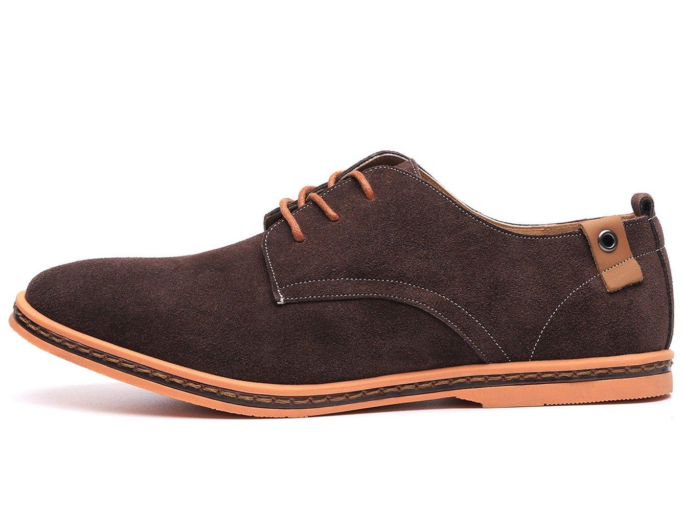 Dadawen Men's Brown Leather Oxford Shoe - 11 D(M) US by DADAWEN (Image #4)
