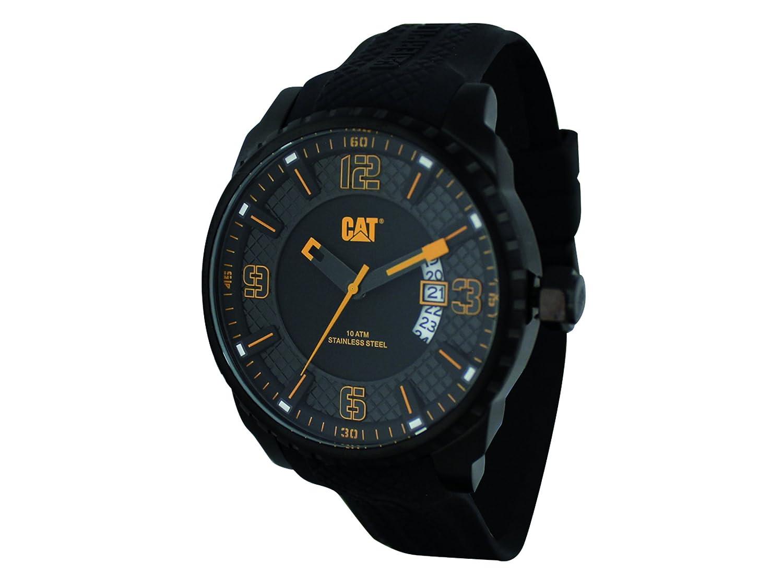 RELOJ CAT Mossville Multifunción, Reloj analógico de Hombre negro con amarillo AC.161.21.127: Amazon.es: Relojes