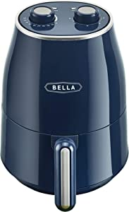 BELLA 1.6 Quart Air Convection Fryer, Navy Blue