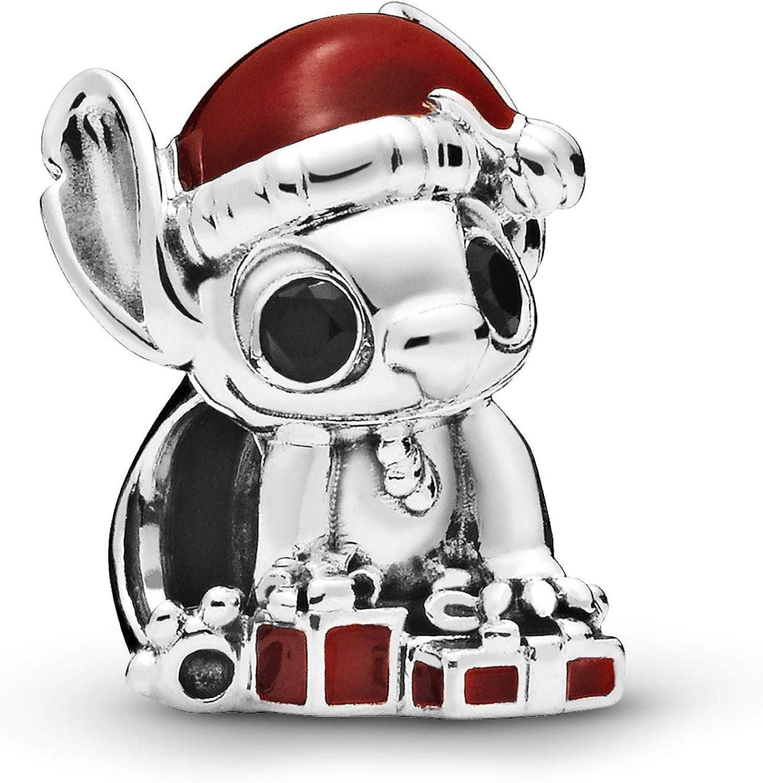PANDORA Disney Stitch Christmas 925 Sterling Silver Charm - 798452C01