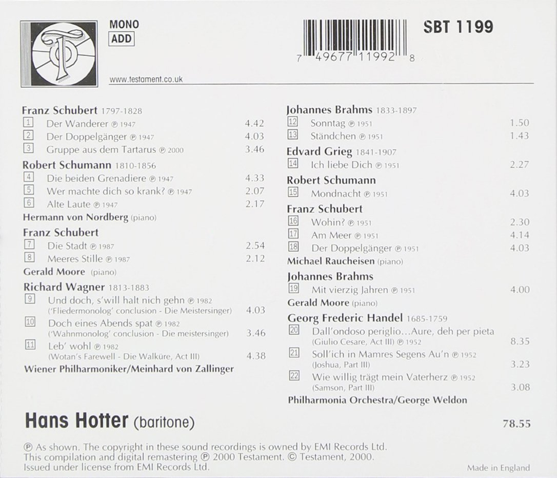 Hans Hotter (1909-2003) 71VQ4gmdkWL._SL1086_