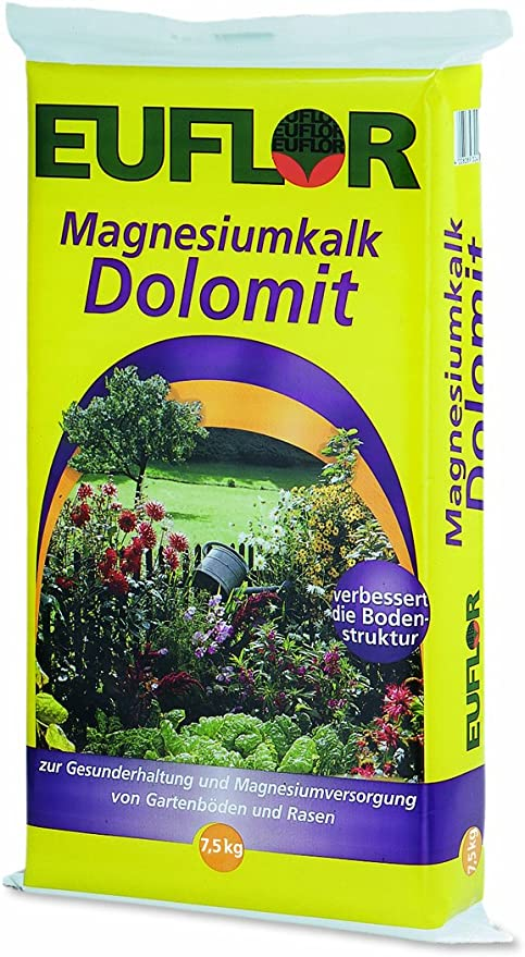 euflor Magnesio cal dolimita 7, 5 kg – Carbonato de calcio Magnesio 95 (70% caco3 + 25% mgco3): Amazon.es: Jardín
